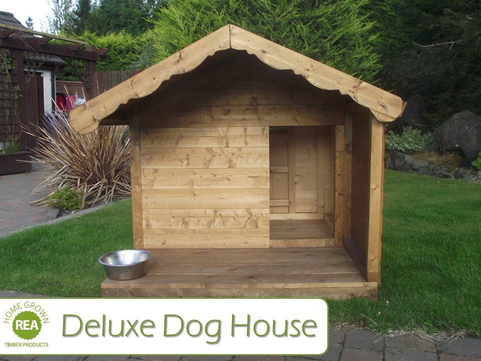 Deluxe dog house for The dog house kennel